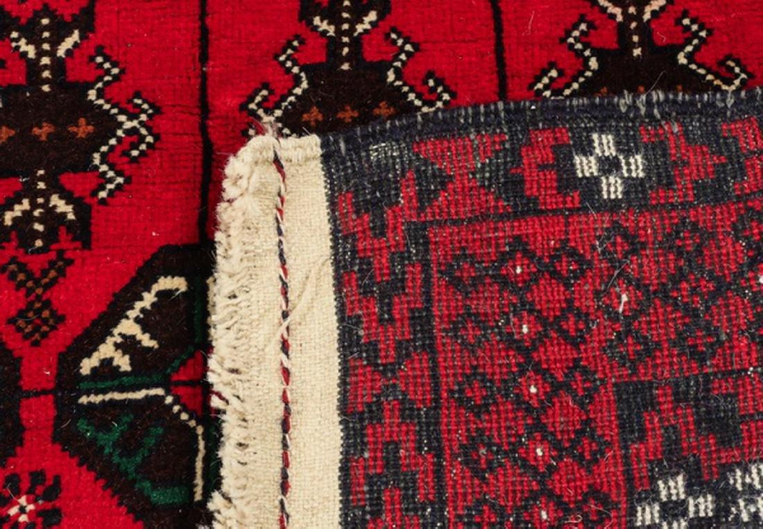 Hand knotted Pakistani Boukhara wool rug - 4