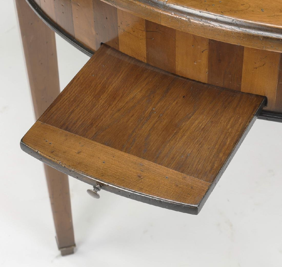 19th c. French walnut marble top games table - 4