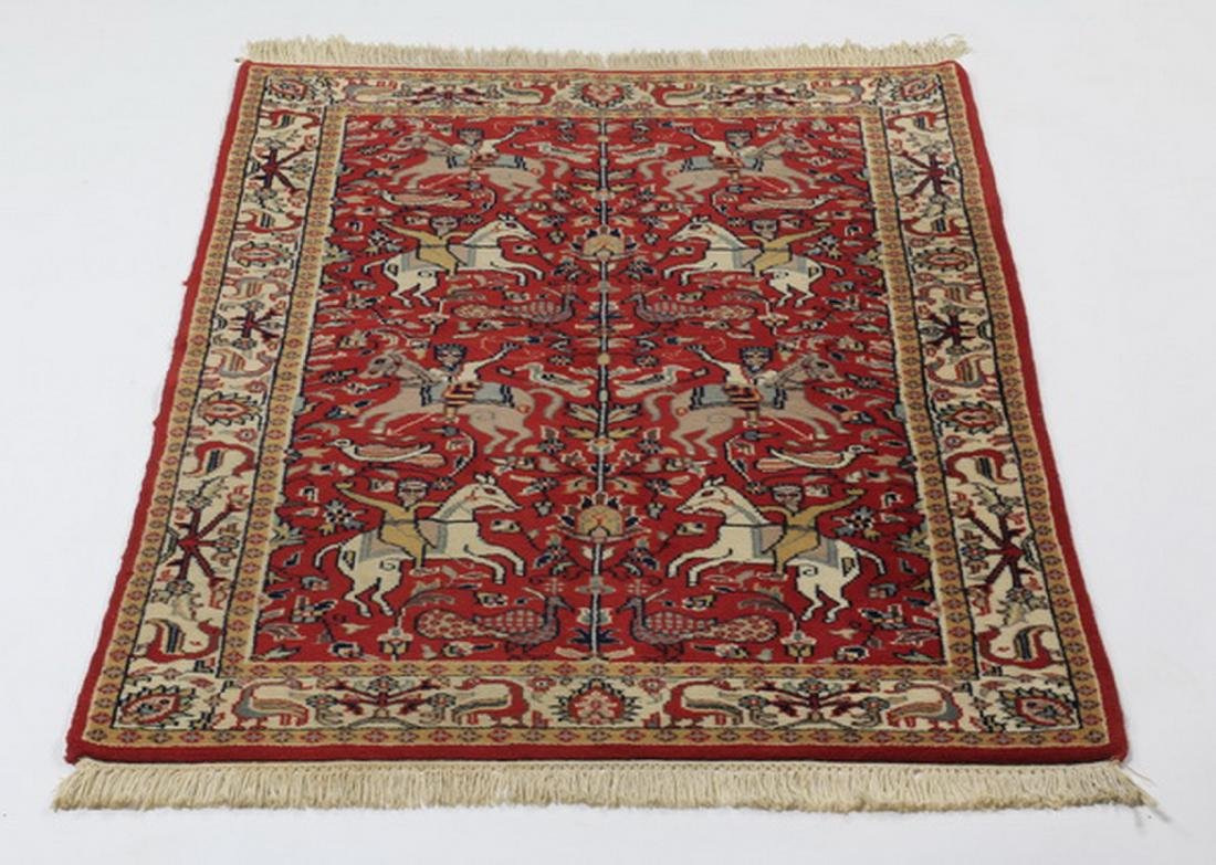 Hand knotted Sino-Tabriz hunt carpet, 5 x 3