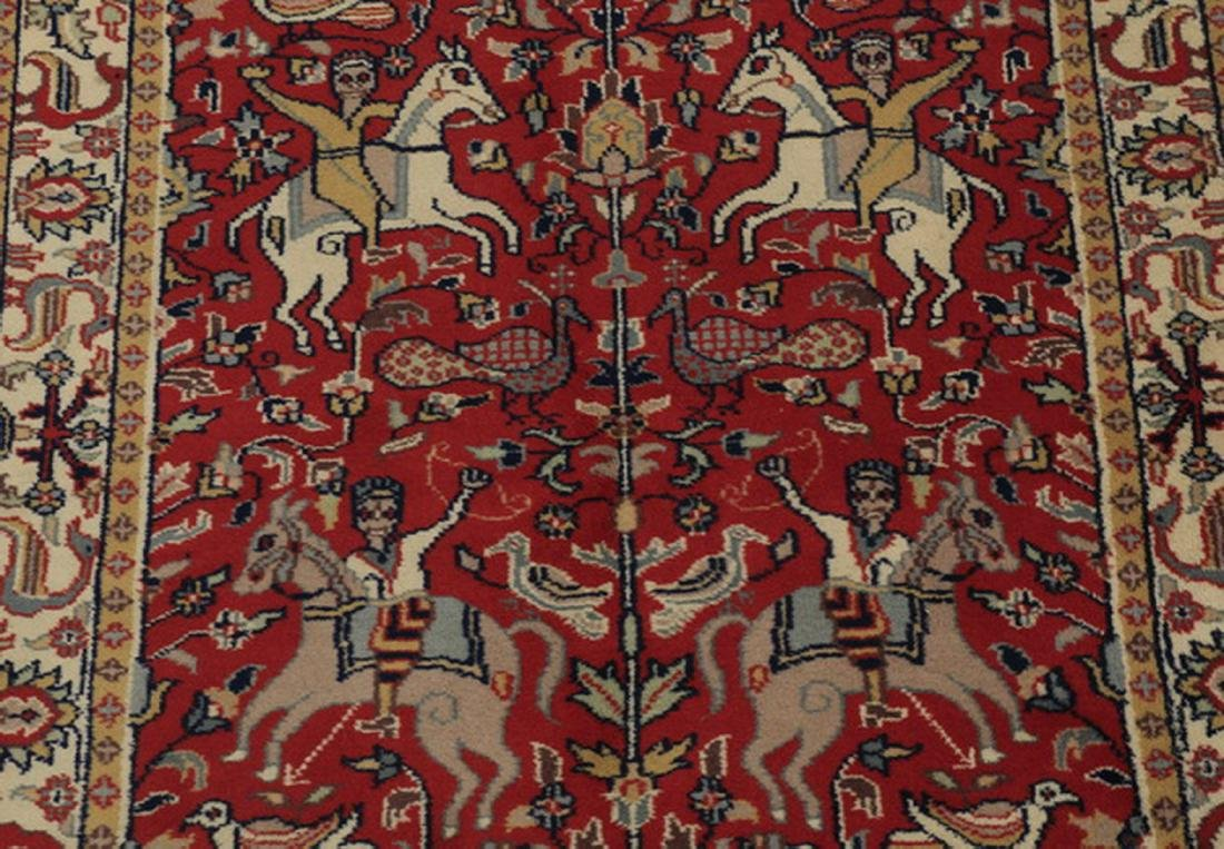 Hand knotted Sino-Tabriz hunt carpet, 5 x 3 - 2