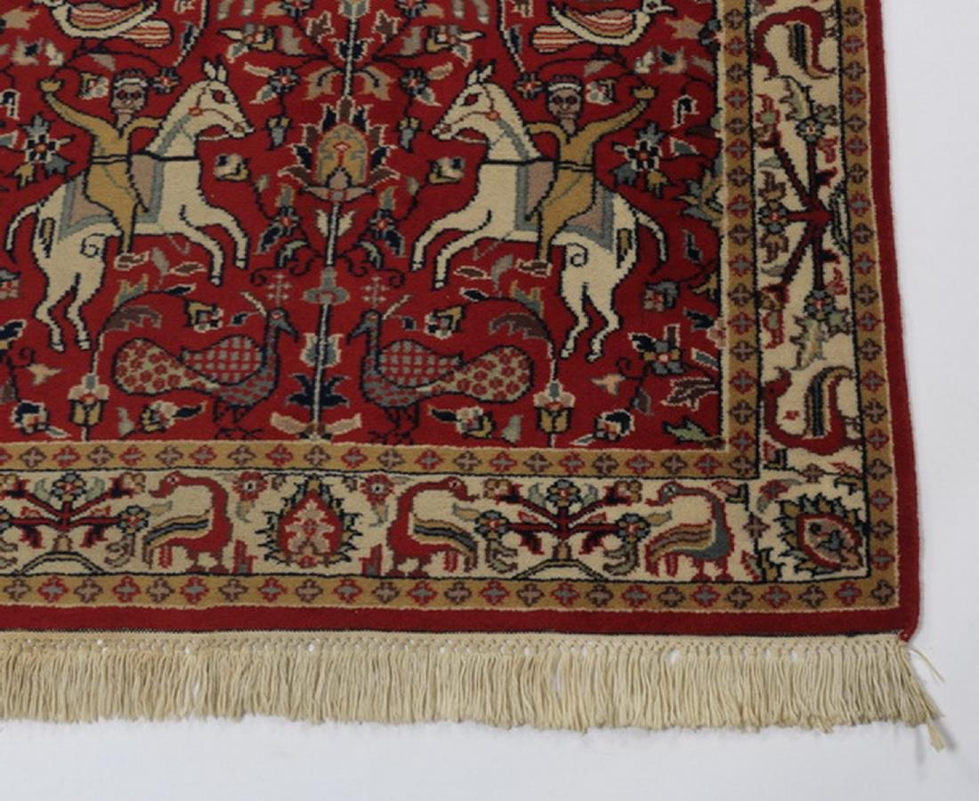 Hand knotted Sino-Tabriz hunt carpet, 5 x 3 - 3