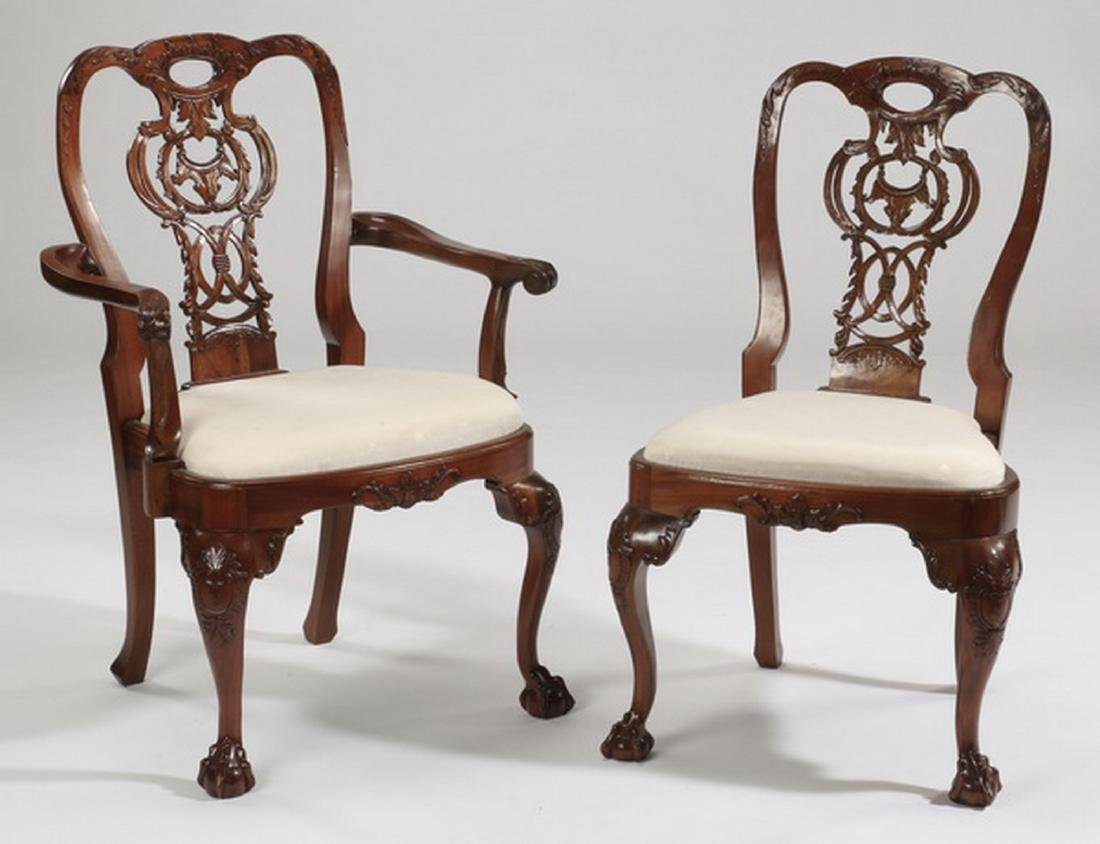 (6) Chippendale style arm and side chairs - 2