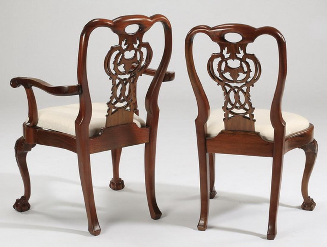 (6) Chippendale style arm and side chairs - 3