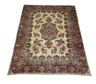 Early 20th c. hand knotted wool Persian Kerman rug