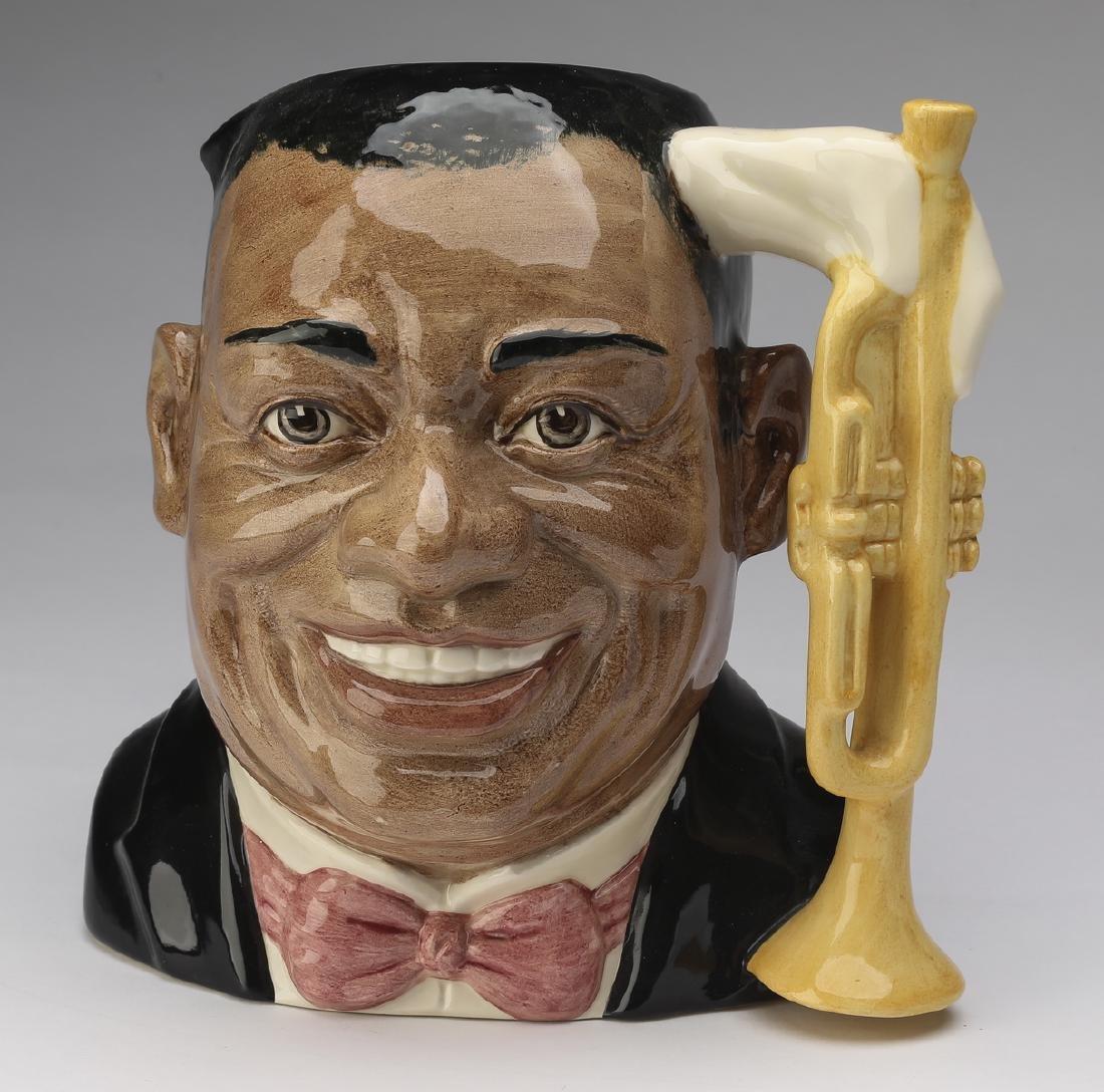 "Royal Doulton Toby jug of Louis Armstrong, 8""h"