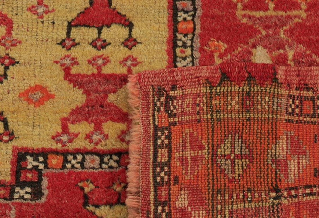 Antique Turkish double mirhab prayer rug, 5 x 4 - 4