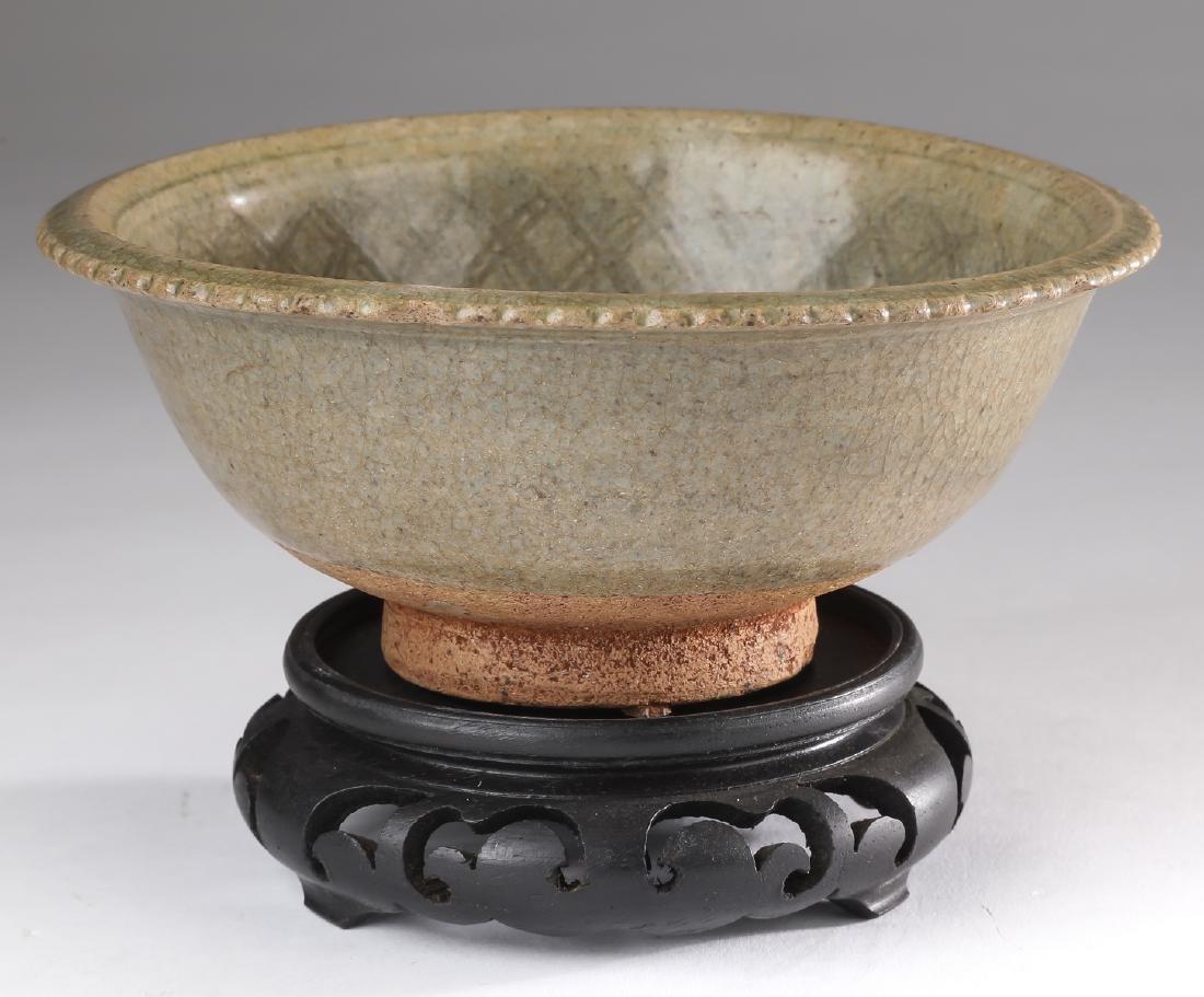 Thai celadon stoneware Sawankhalok bowl