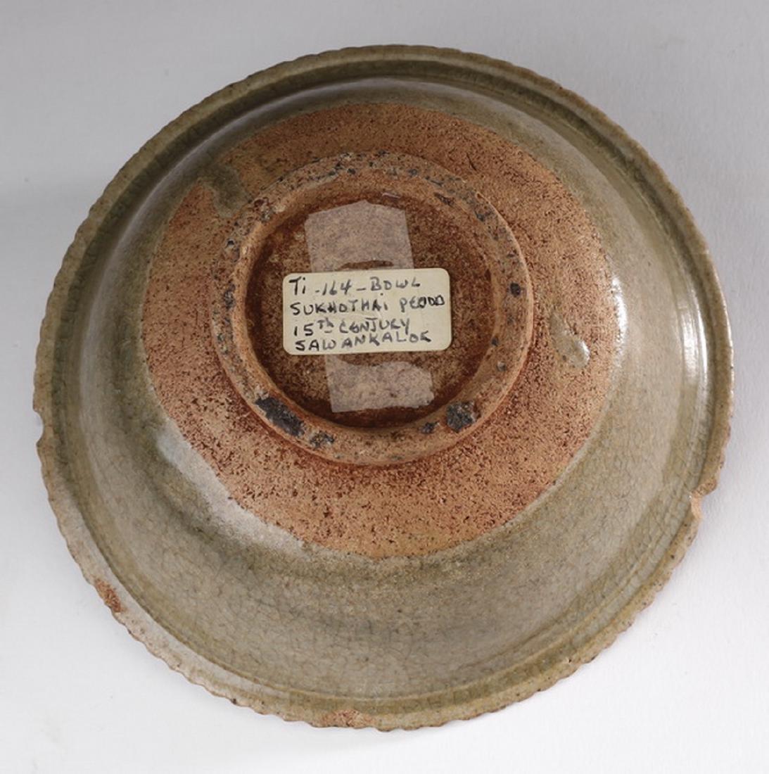 Thai celadon stoneware Sawankhalok bowl - 3