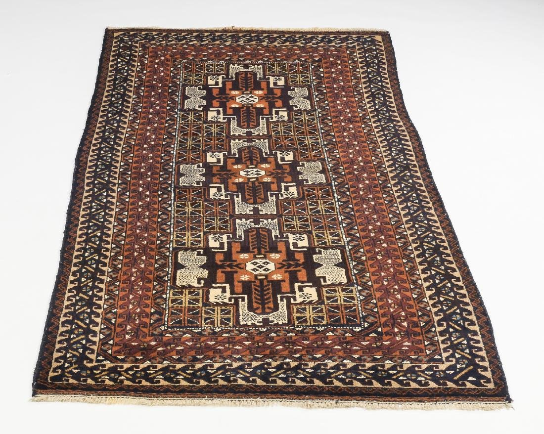 Hand knotted Baluch wool rug, 4 x 7
