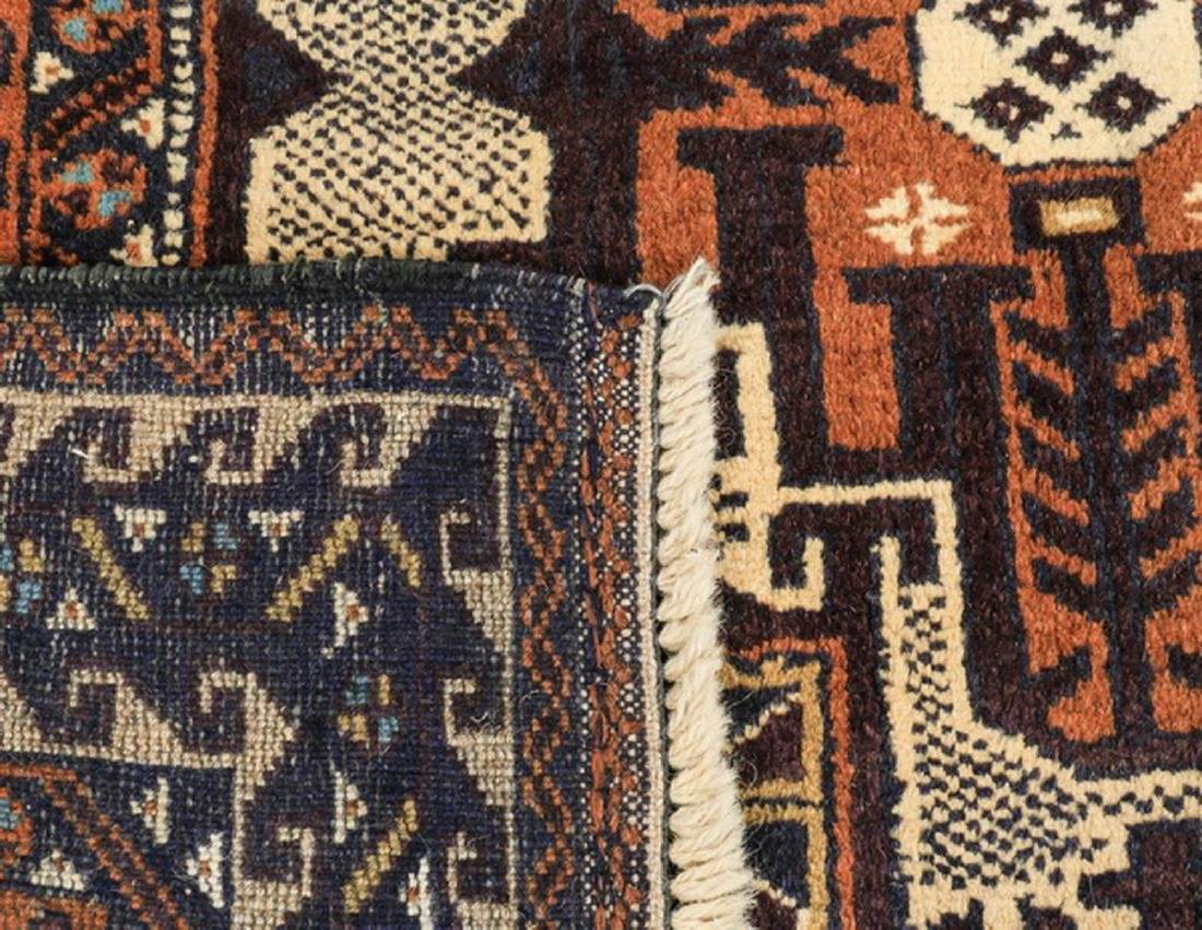 Hand knotted Baluch wool rug, 4 x 7 - 4