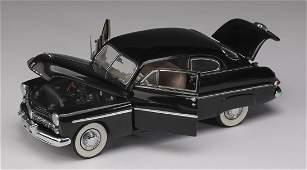 "Danbury Mint 1949 black Mercury Club Coupe, 3""h"