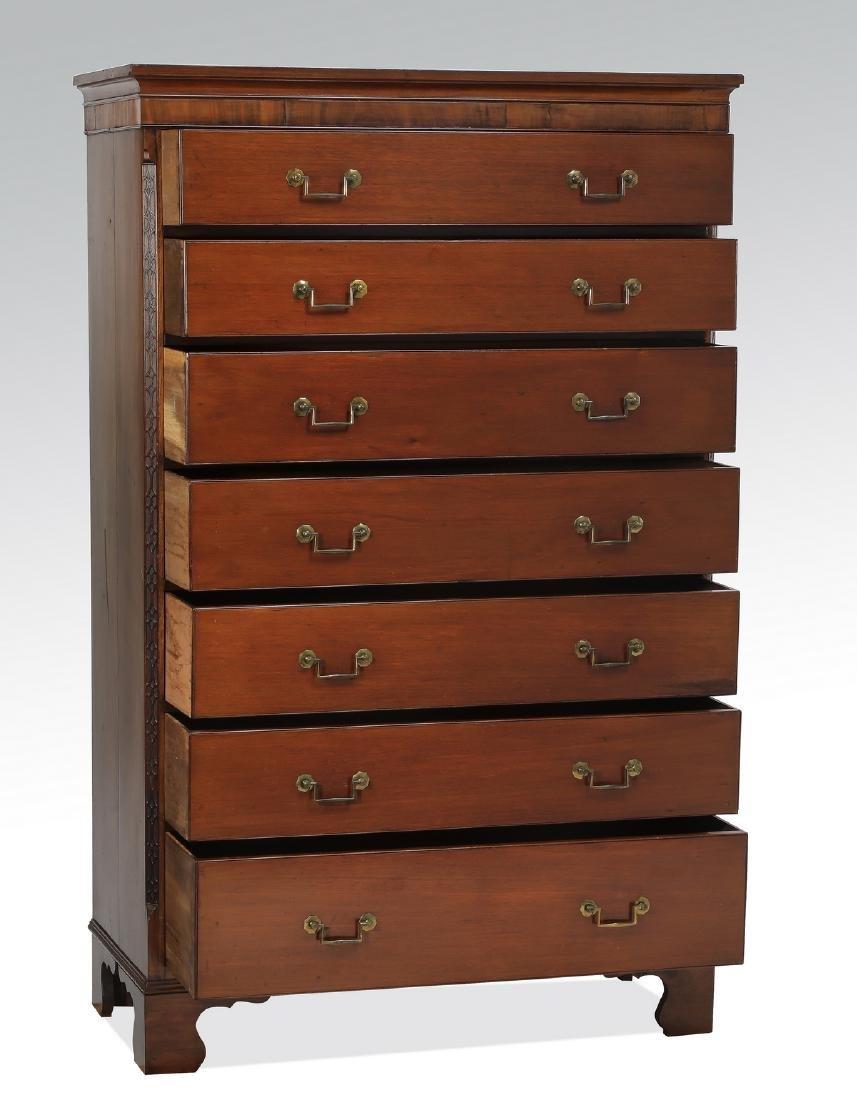 19th c. Georgian style mahogany gentleman's chest - 2