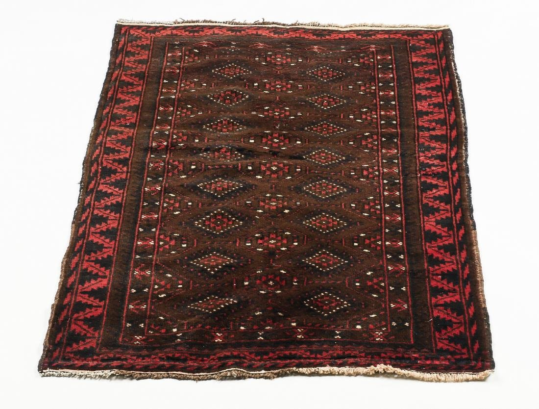 Hand knotted wool Turkmen wool rug, 3 x 4