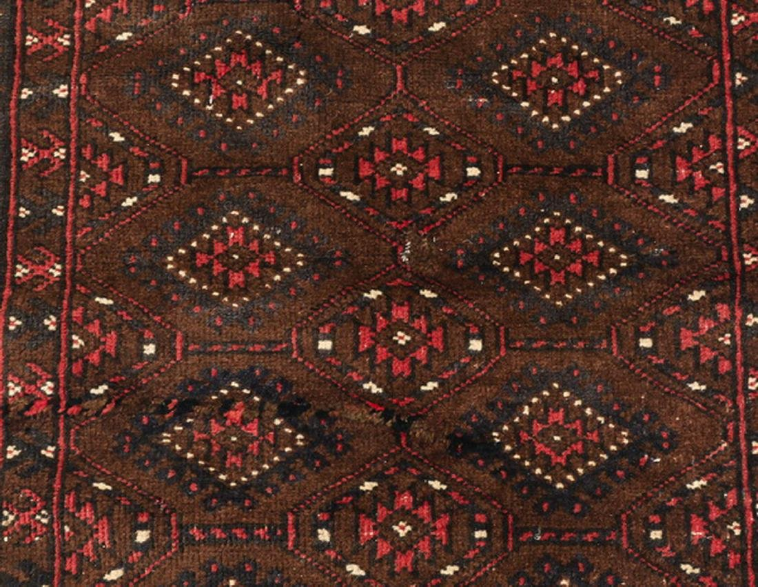 Hand knotted wool Turkmen wool rug, 3 x 4 - 2