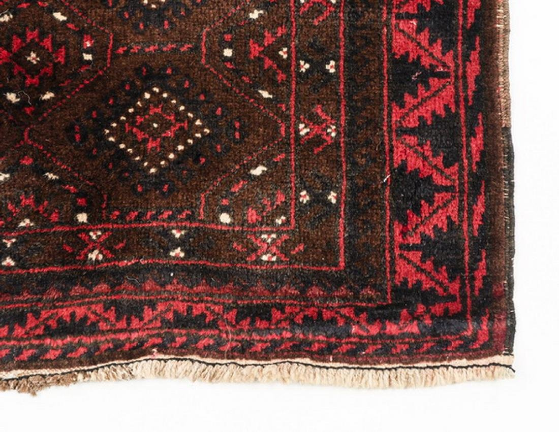 Hand knotted wool Turkmen wool rug, 3 x 4 - 3