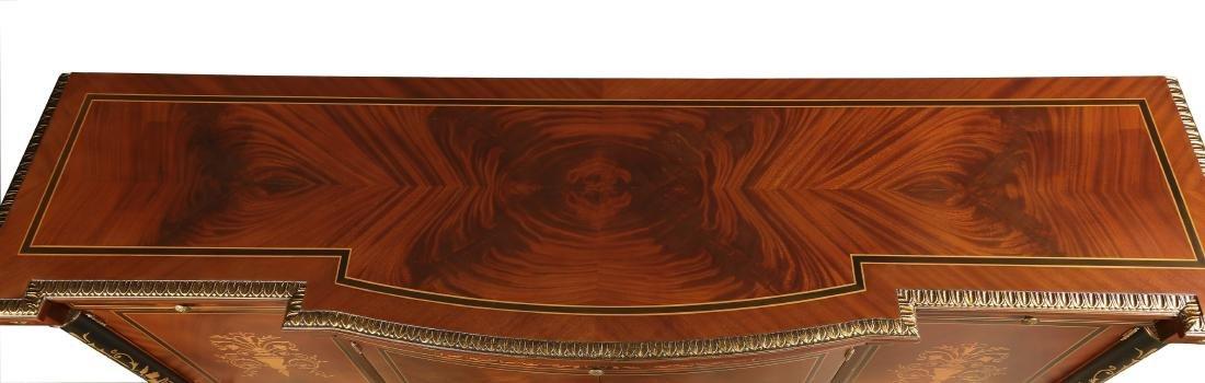"""Italian marquetry inlaid mahogany credenza, 86""""h - 2"""