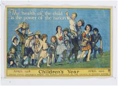WWI 'Children's Year' poster, ca. 1918
