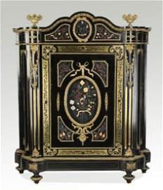 19th c. bronze mounted pietra dura inlaid cabinet