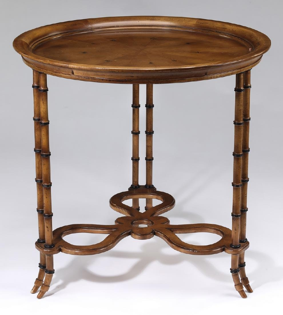 Baker Chinoiserie inspired faux bamboo side table