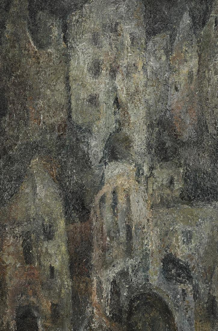 P. Cokolov signed O/c Impressionist cityscape - 2