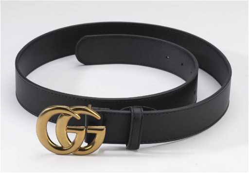 fc3c290a55bbb Gucci belt with double G buckle in black leather
