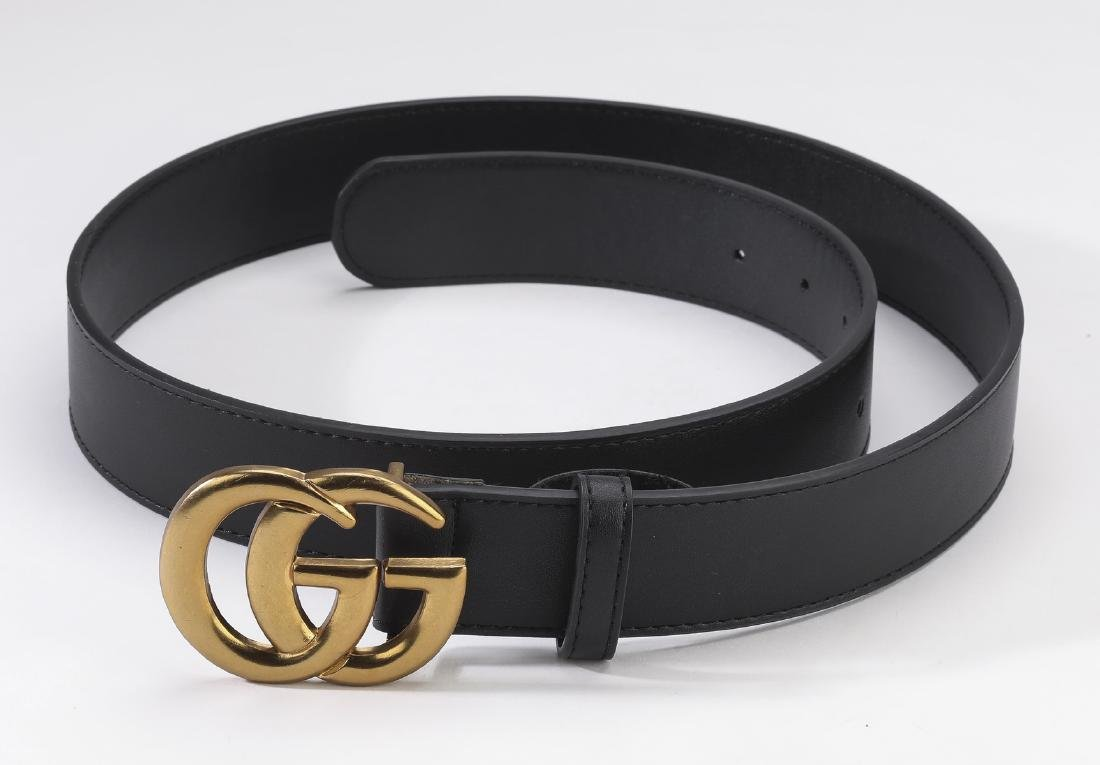 3028fc44f1376 Gucci belt with double G buckle in black leather - Dec 01, 2018 | Great  Gatsby's Auction Gallery, Inc. in GA