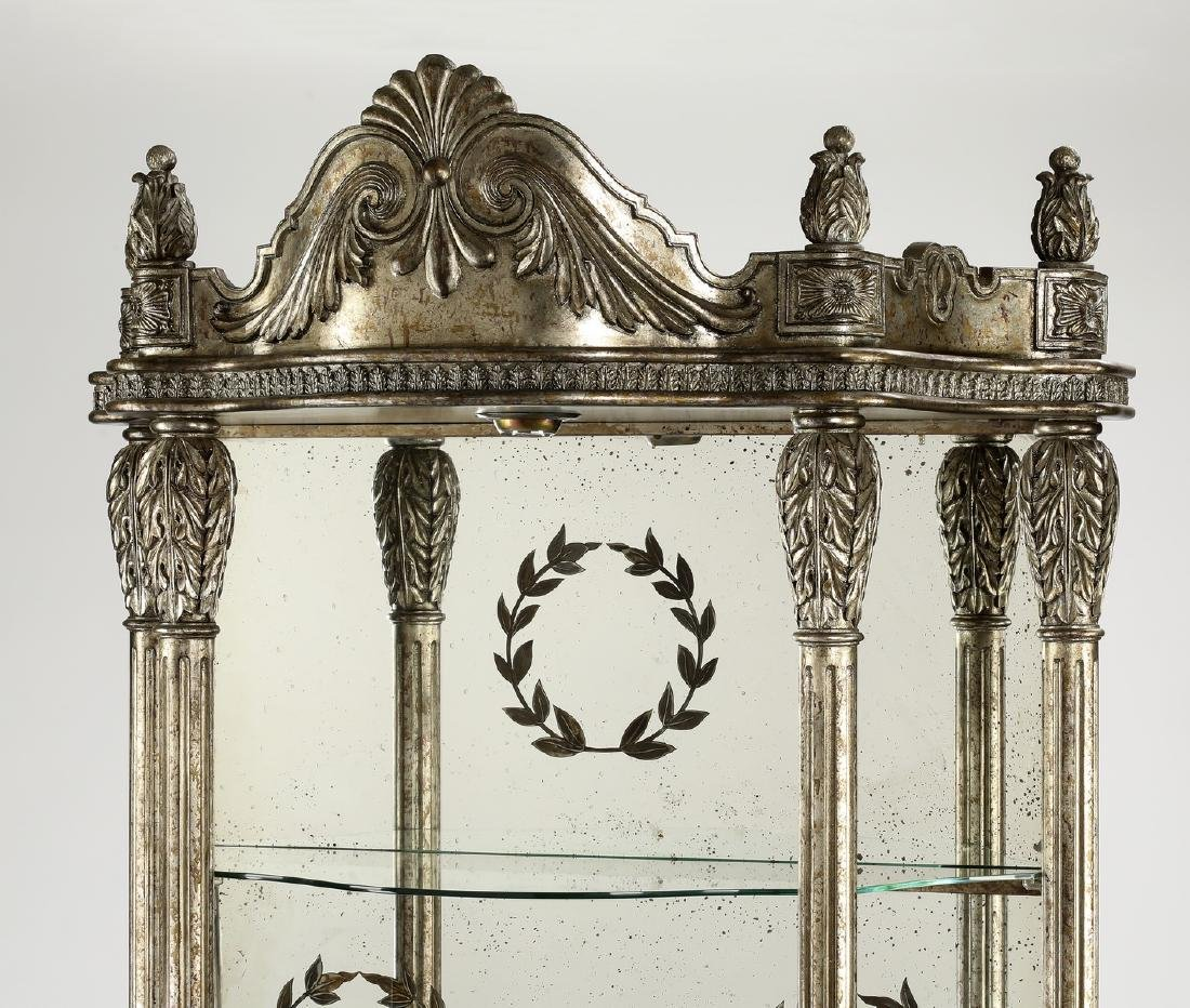 French inspired silvered etagere w/ mirror back - 2