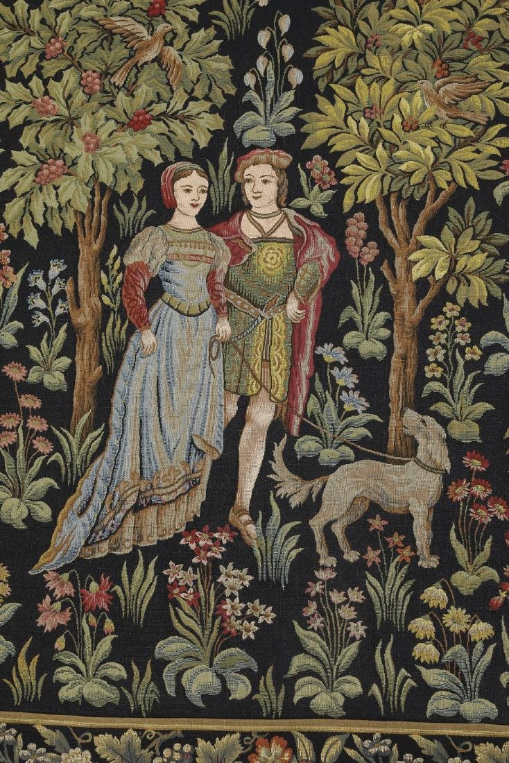 French Point de L'Halluin woven tapestry - 2