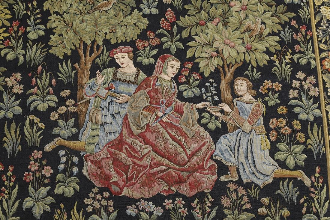 French Point de L'Halluin woven tapestry - 3