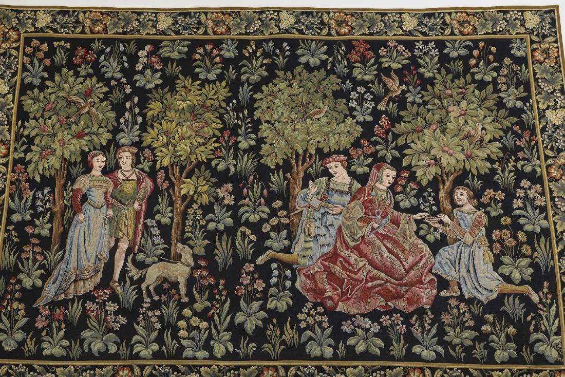 French Point de L'Halluin woven tapestry - 4