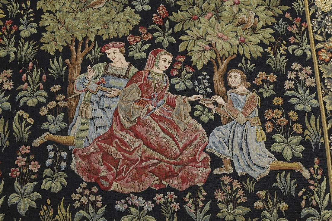 French Point de L'Halluin woven tapestry - 5