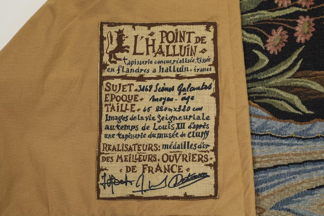 French Point de L'Halluin woven tapestry - 6