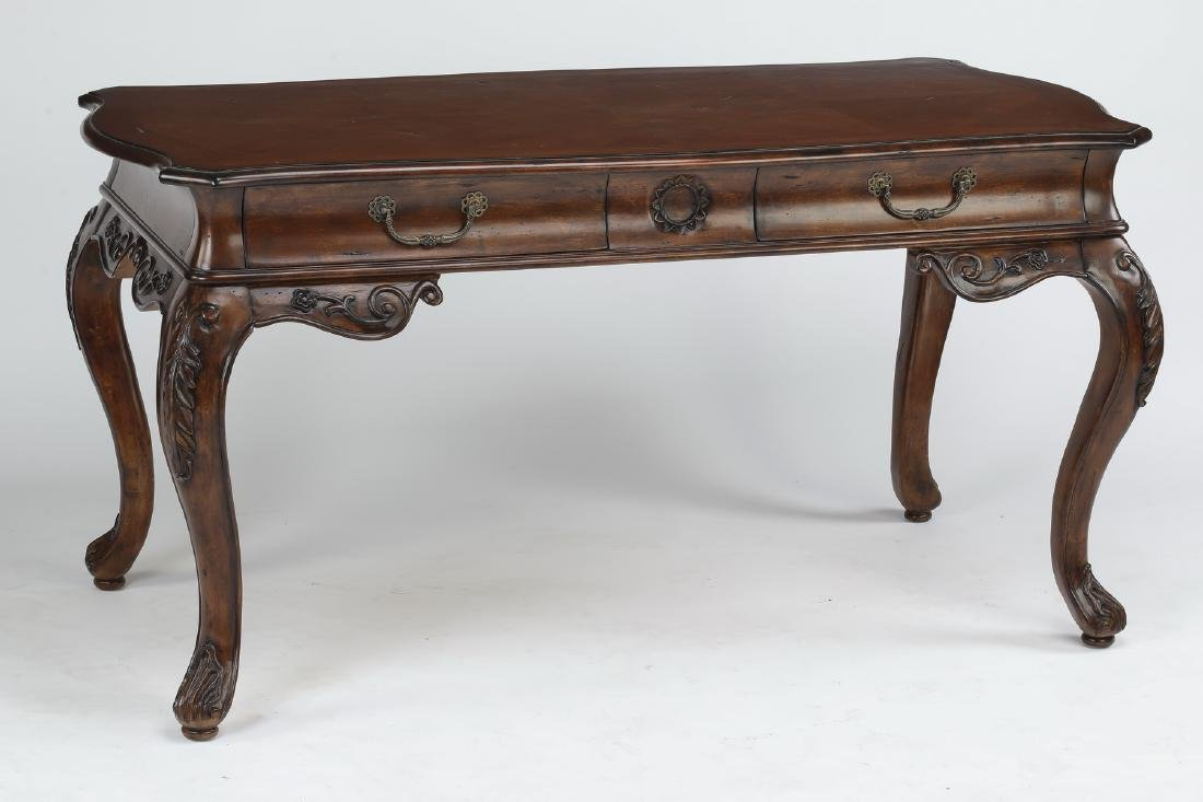 "Louis XVI style mahogany desk, 61""w"