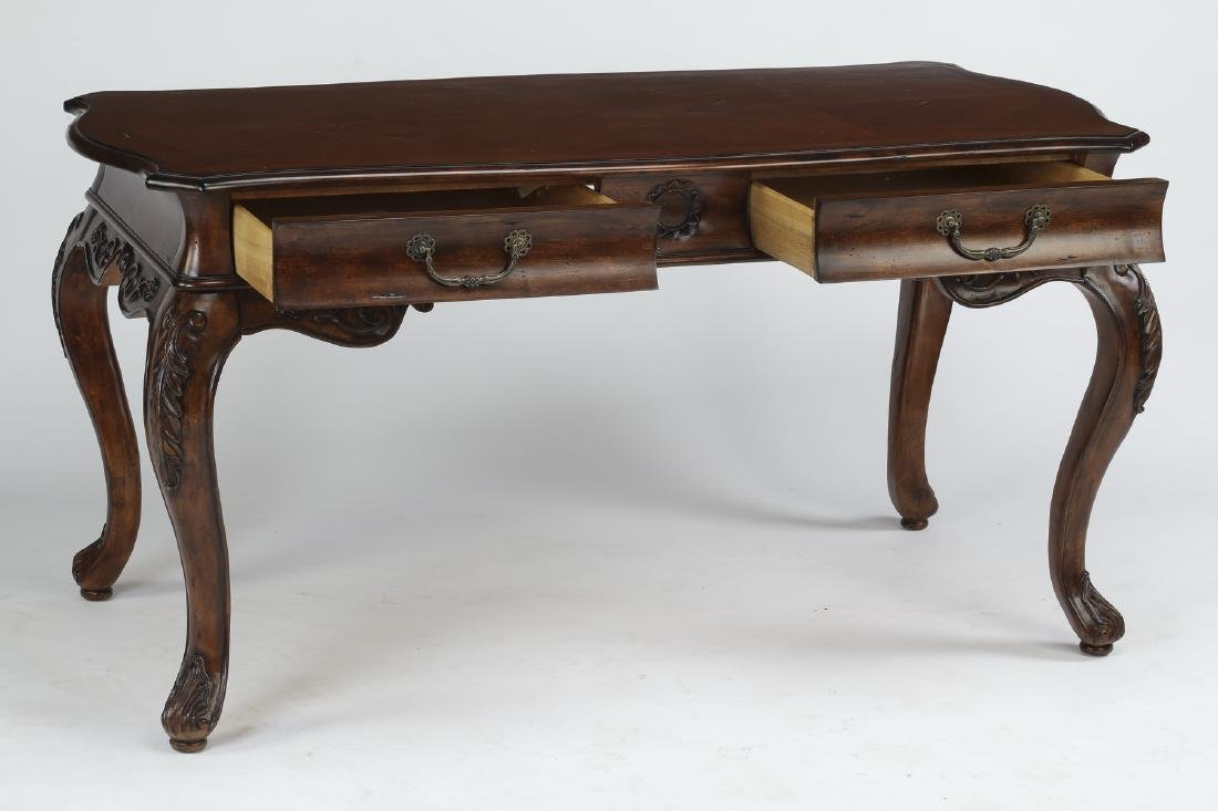 "Louis XVI style mahogany desk, 61""w - 2"
