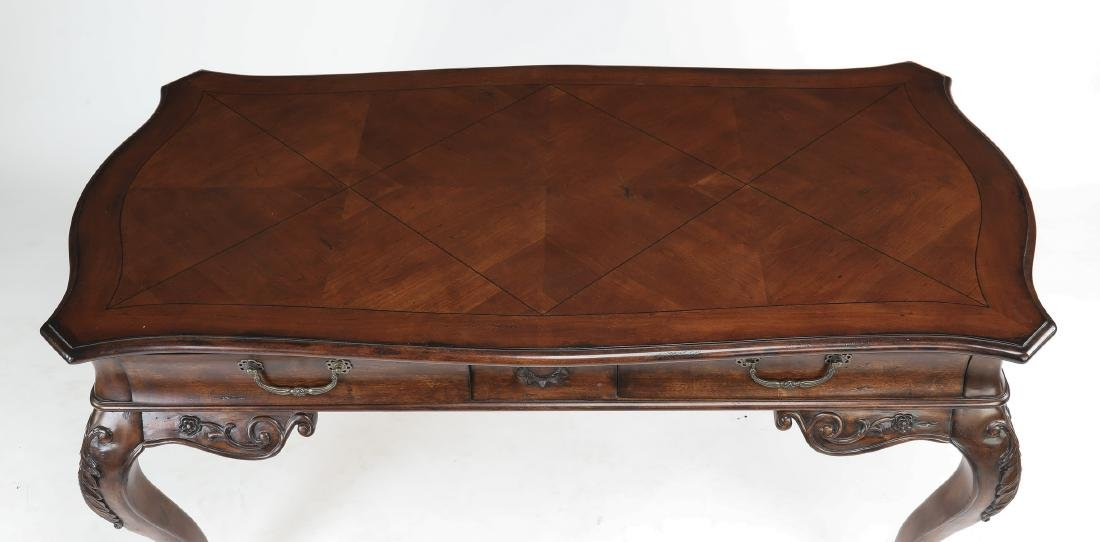 "Louis XVI style mahogany desk, 61""w - 3"