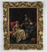 Pio Ricci signed Oc titled The Jewelry Merchant