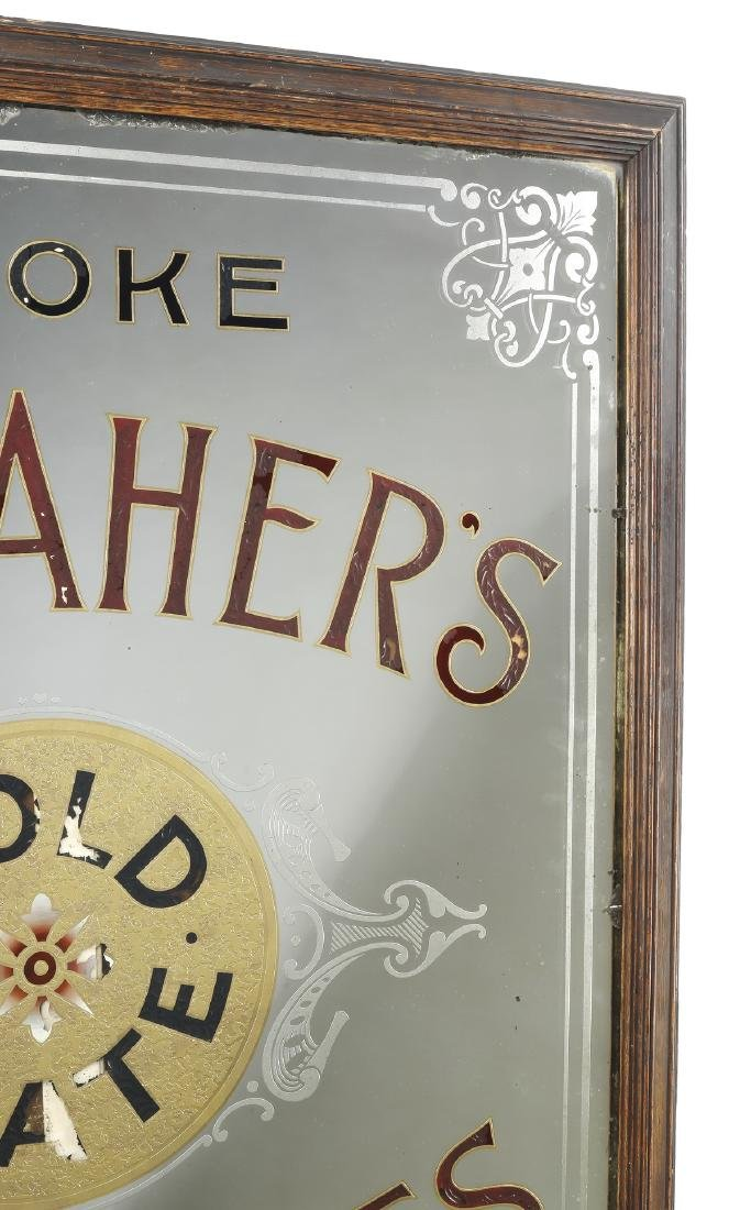 Reverse-painted advertising mirror for Gallaher's - 2