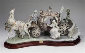 """Retired Lladro 'At The Stroke Of Twelve,' 27""""l"""