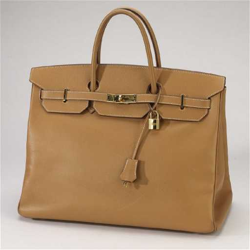 7faed6bb32 Hermes  Birkin 40  camel courchevel leather satchel