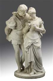 P. Romanelli signed marble sculpture, 19th c. Italian
