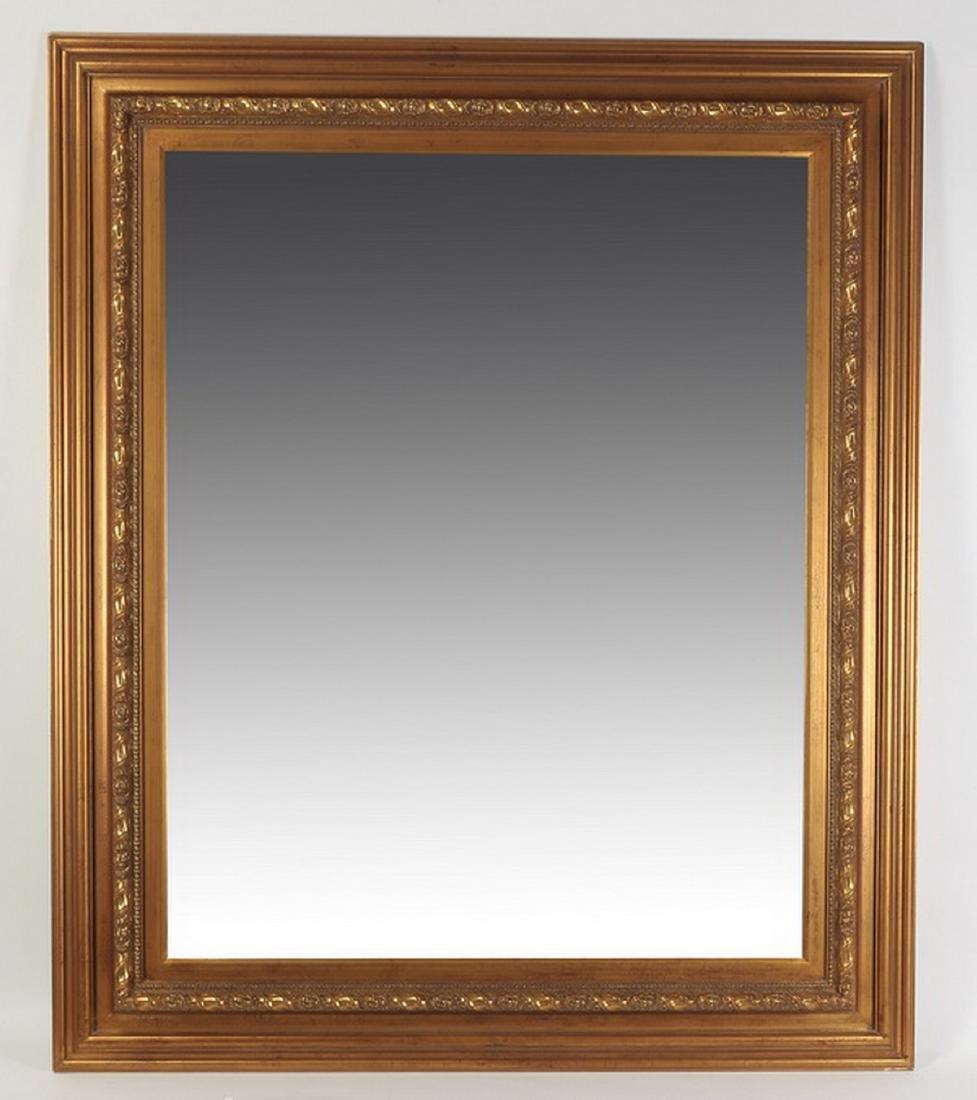 "Monumental beveled mirror, 77""h x 66""w"
