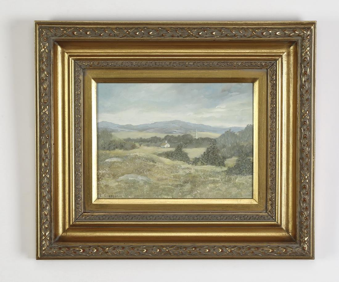 Early 20th c. O/c of tranquil landscape, signed