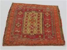 Antique Turkish double mirhab prayer rug, 5 x 4