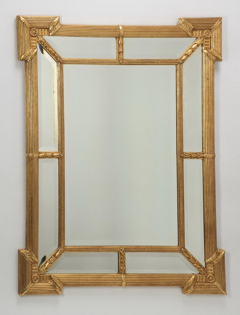 "Hollywood Regency style gilded mirror, 45""h x 34""w"