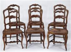 Set of 6 French Provencial style dining chairs 39