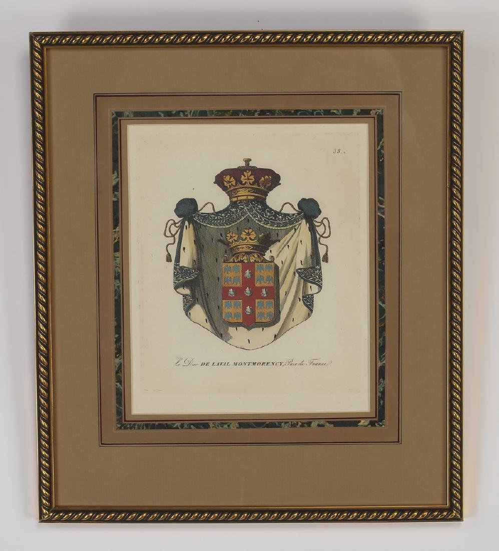 (4) Framed prints of French heraldic crests - 2