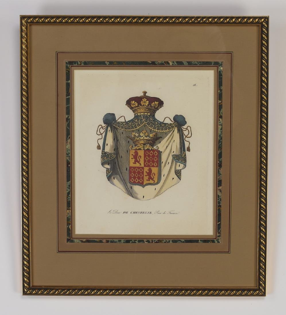 (4) Framed prints of French heraldic crests - 4