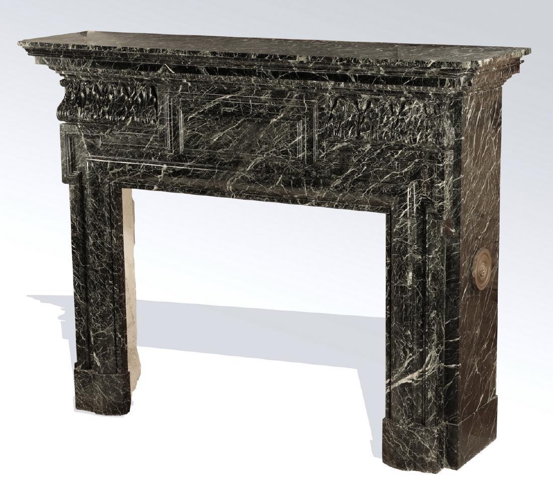 19th c. Italian verde marble mantel