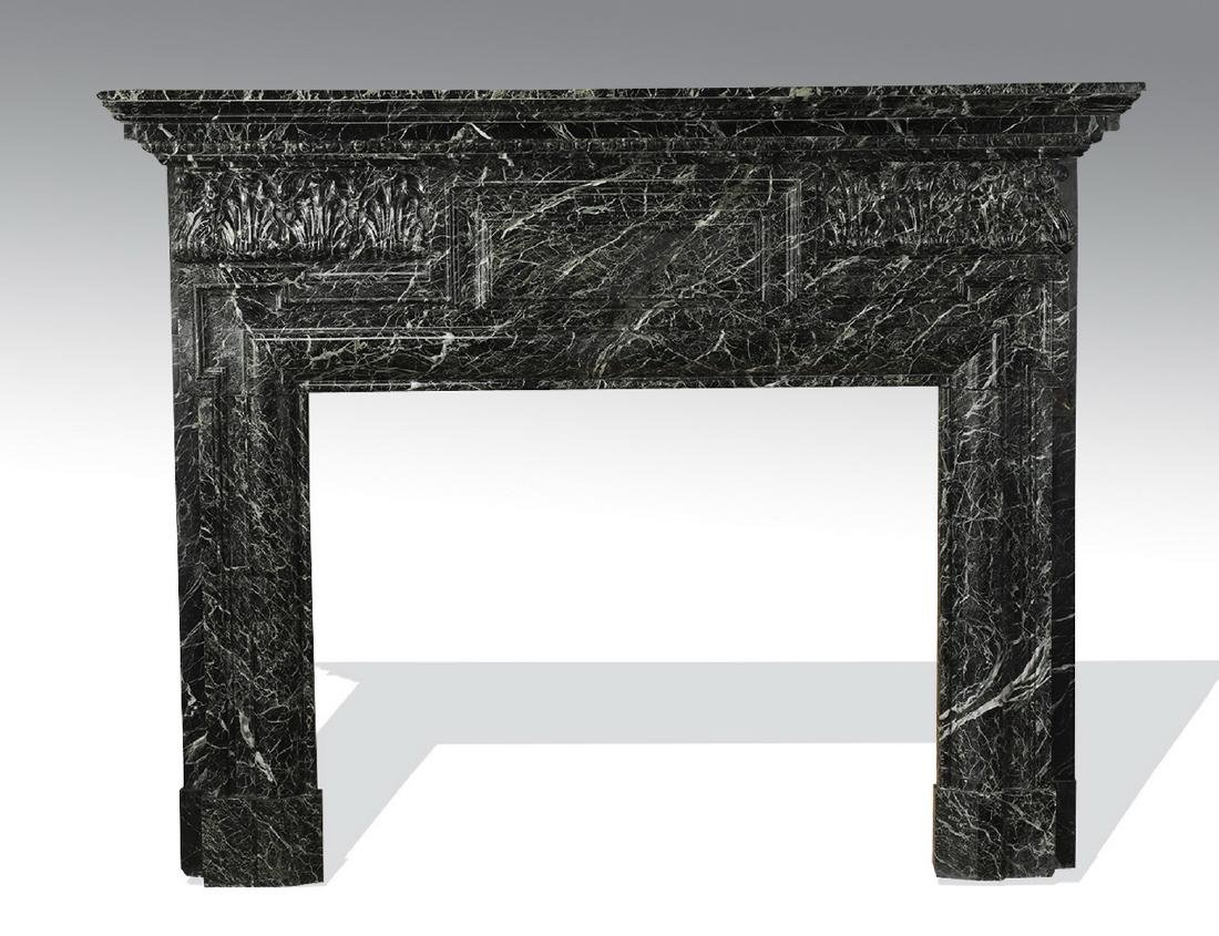 19th c. Italian verde marble mantel - 2
