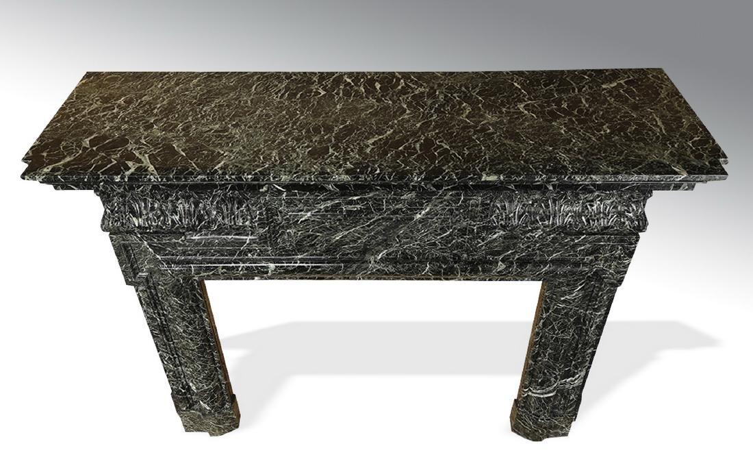 19th c. Italian verde marble mantel - 3